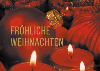 Weihnachtskarte rot
