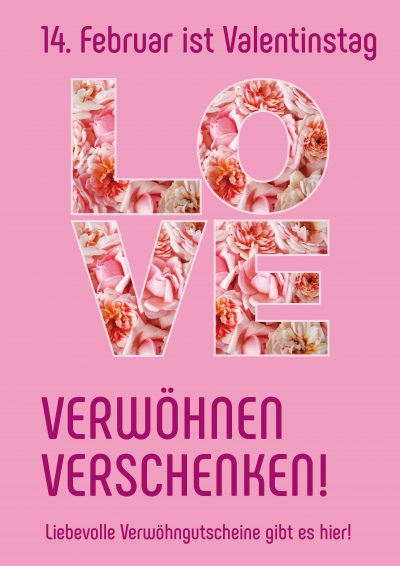 Plakat Valentinstag Love
