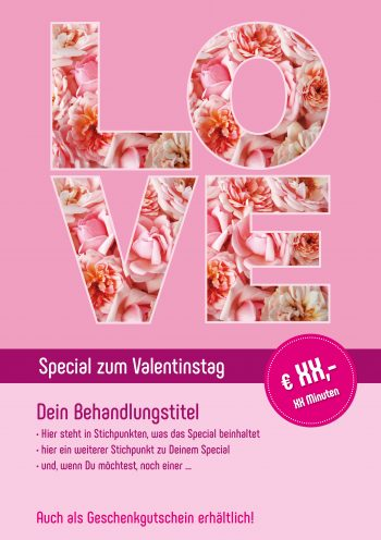 Plakat Valentinstag Love Angebot