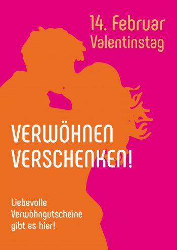 Plakat Valentinstag Pop Kiss