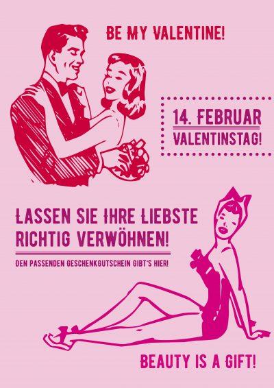 Plakat Valentinstag Retro