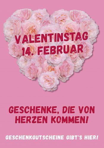 Plakat Valentinstag Rosenherz