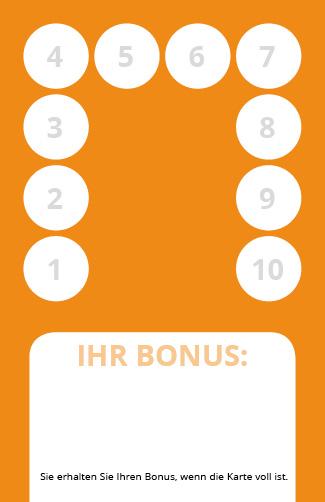 Bonuskarte Ayurveda Rückseite 10er