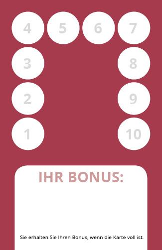 Bonuskarte Reiki 10er