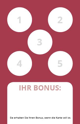 Bonuskarte Reiki 5er