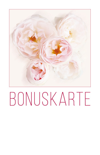 Bonuskarte weiße Rose