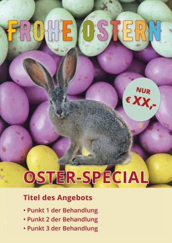 Plakat Ostern Angebot
