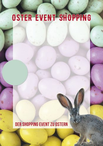 Plakat Ostern Event-Shopping