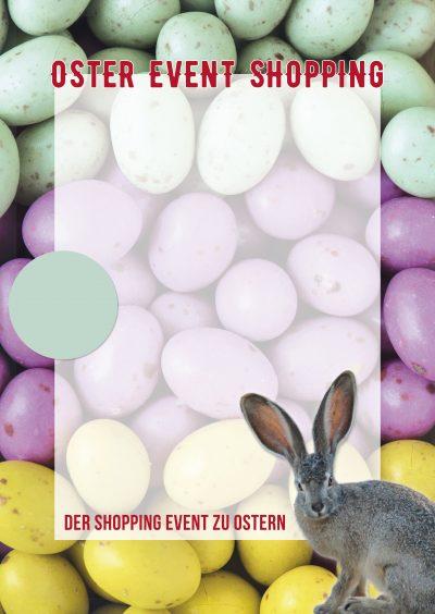 Plakat Ostern Event-Shopping