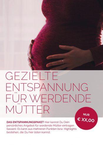 Plakat Entspannung Schwangerschaft Angebot