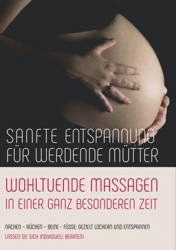 Plakat Massage Schwangerschaft