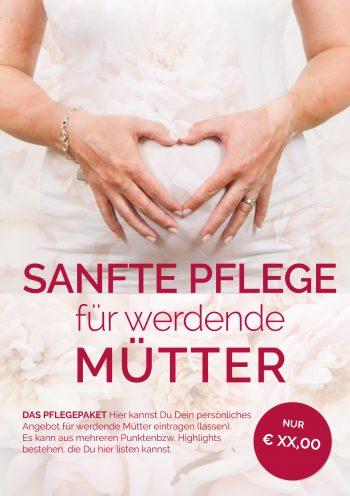 Plakat Pflege Schwangerschaft Angebot