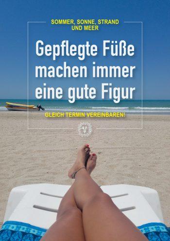 Plakat Urlaub gepflegte Füße