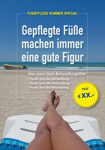 Plakat Urlaub Füße Angebot