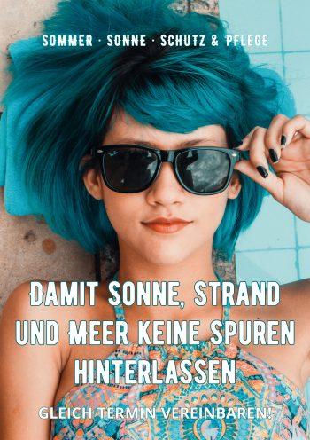 Plakat Sommer Schutz Blue