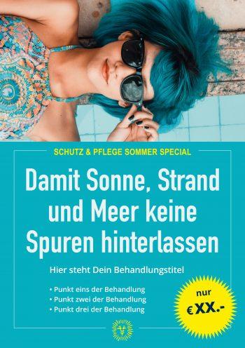 Plakat Sommer Schutz Blue Angebot