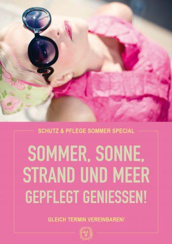 Plakat Sommer Schutz Pink
