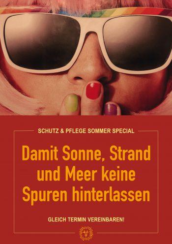 Plakat Sommer Schutz Red