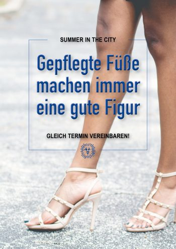 Plakat Summer City Füße