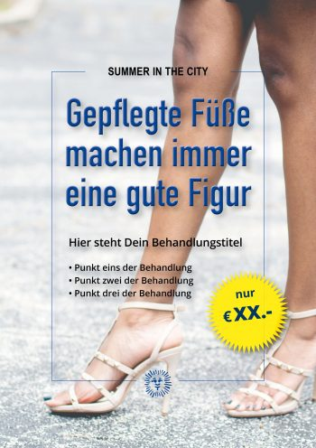 Plakat Summer City Füße Angebot
