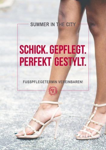 Plakat Summer City Füße Style