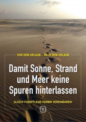 Plakat Sommer Fußpflege