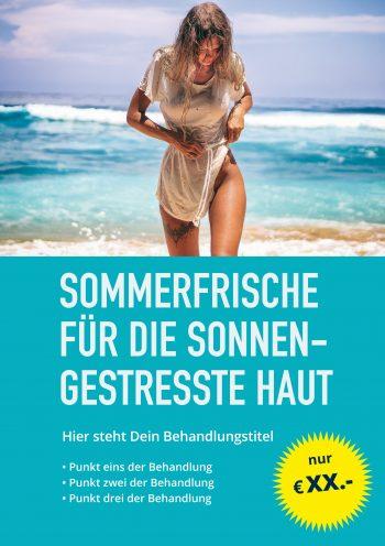 Plakat Sommerfrische Angebot