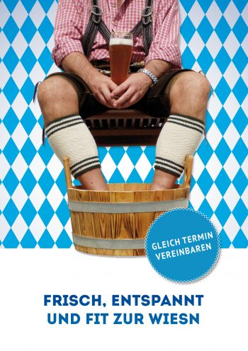 Plakat Fit zur Wiesn