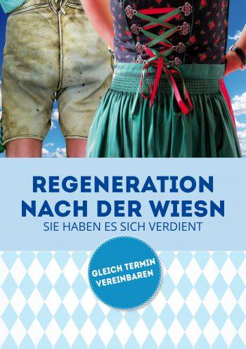 Plakat Regeneration Wiesn Lederhose