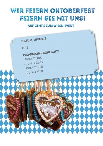 Plakat Wiesn-Event Herzen