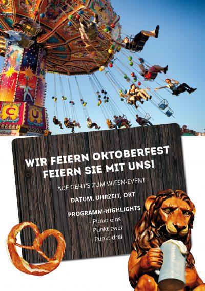 Plakat Wiesn-Event Karussell