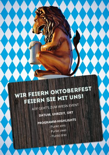 Plakat Wiesn-Event Löwe II