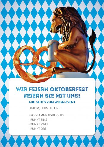 Plakat Wiesn-Event Löwe