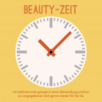 Behandlungsuhr Beauty-Zeit