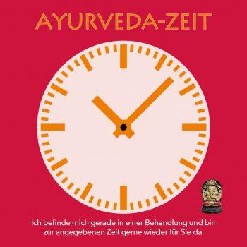 Behandlungsuhr Ayurveda-Zeit