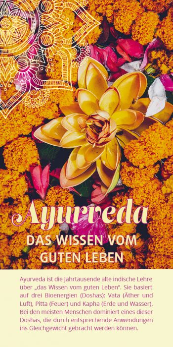 Ayurveda-Flyer Blüten
