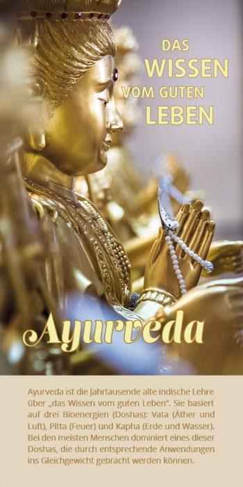 Ayurveda-Flyer Buddha