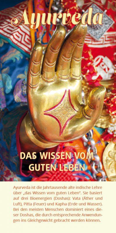 Ayurveda-Flyer Hand Buddha