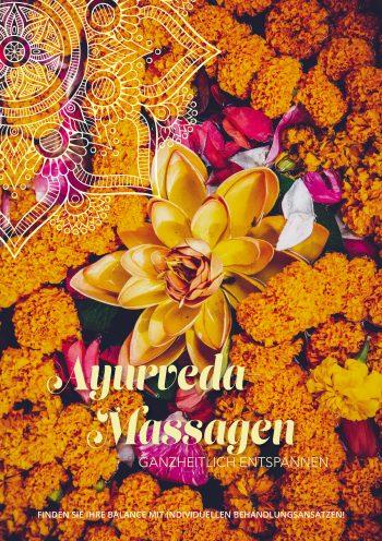 Plakat Ayurveda Blüten