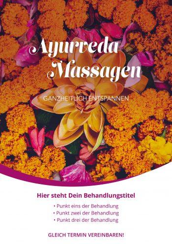 Plakat Ayurveda Blüten Angebot