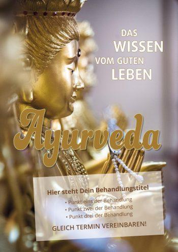Plakat Ayurveda Buddha Angebot
