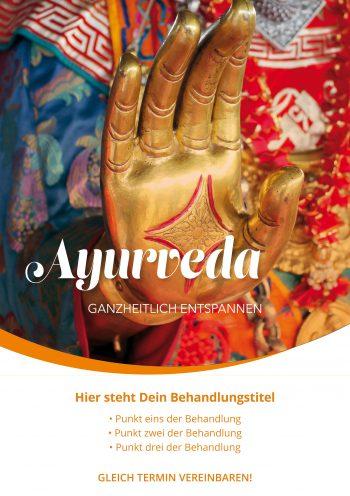 Plakat Ayurveda Buddha Hand Angebot