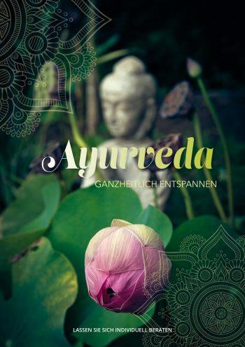 Plakat Ayurveda Lotusblüte