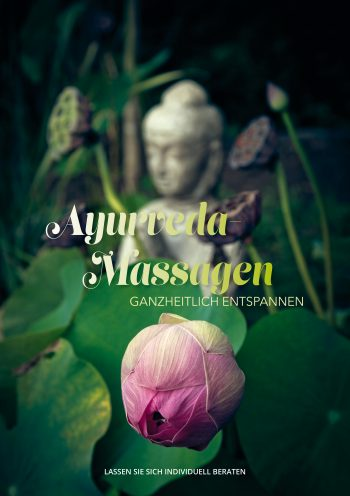 Plakat Ayurveda-Massagen Lotus