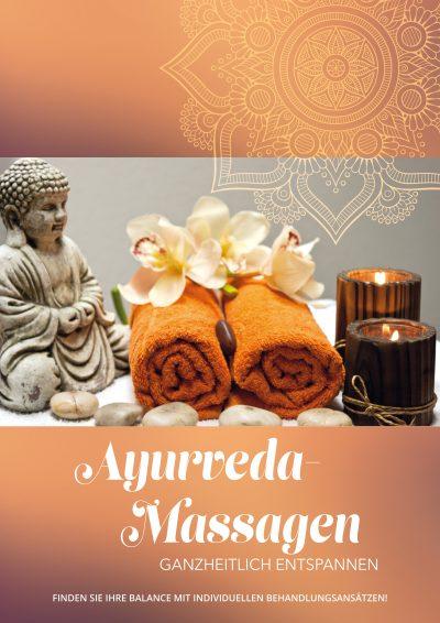 Plakat Ayurveda-Massagen-Still-Life