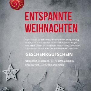 Plakat entspannte Weihnachten