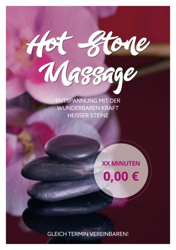 Plakat Hot-Stone-Massage 2 Angebot