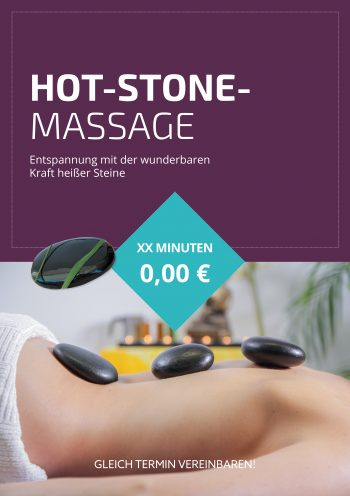 Plakat Hot-Stone-Massage 6 Angebot