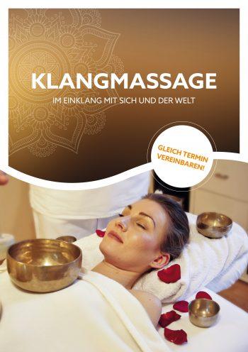Plakat Klangmassage Anwendung Mandala