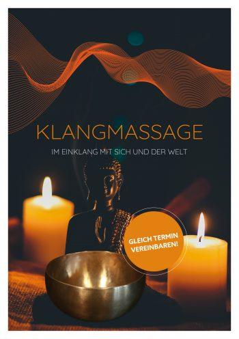 Plakat Klangmassage Buddha Schale